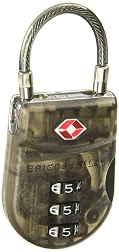 Briggs & Riley Lightweight TSA Cable Lock, Smoke, One Size,ACC-W15-21