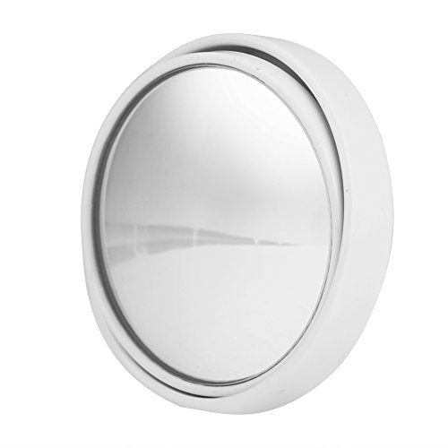 KIMISS auto 360 graden rotatie diameter kleine ronde spiegel 50mm blinde vlek omkeren achteruitkijkspiegel (wit)