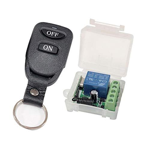 SDENSHI - Interruptor de control remoto inalámbrico de un canal, 12 V, 10 A, con transmisor