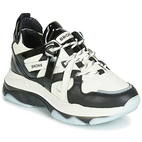BRONX BAISLEY Sneakers dames Zwart/Wit Lage sneakers