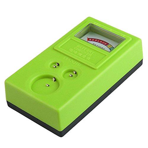 Creely 1.55V y 3V Comprobador de Bateria Pila de boton Probador de bateria Verde