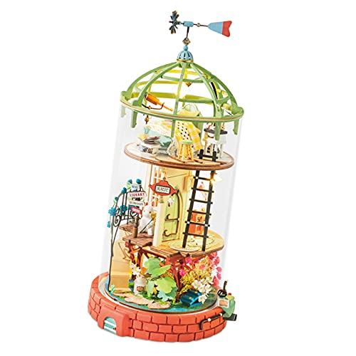 Hellery Puppenhaus DIY Kit Miniatur DIY Haus Spielzeug Geschenke für Erwachsene und Jugendliche - EIN