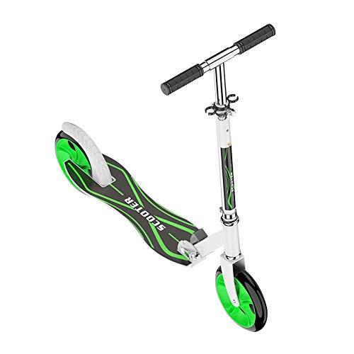 Scooter Ruedas de PU de Alto Impacto para Adultos Cubierta de Aluminio Ruedas de aleación de 200 mm Puños Estilo Bicicleta Micro Trick Scooter Patinetas Plegables de Giro 360