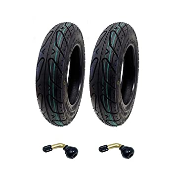 MMG Set of 2 Scooter Tubeless Tire 3.50-10 Compatible with Adly Breeze 50 and Sprint 50 and compatible with other 50cc Scooters Includes 2 TR87 Bent Valve Stems