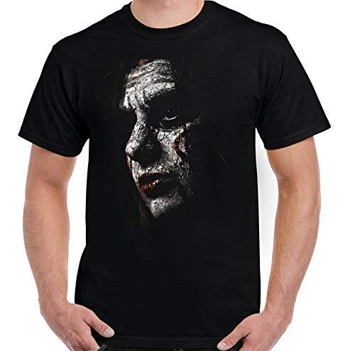 DIANNAO Mens Saw T-Shirt, Jigsaw Mask Halloween Horror Movie Top Scary Black M