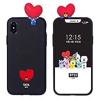 [BT21 Mascot Soft Bumper ケース 防弾少年団 BTS BT21 Figure フィギュア ソフト ケース バンパーケース 正規品] スマホケース iPhone11 Pro iPhone11Pro iPhoneX iPhoneXS iPhoneXR iPhone7/8 iPhone 7/8 X Xs XR 11 Pro 11Pro アイフォン 7/8 X Xs XR 11 Pro 11Pro アイフォンXS アイフォンXR アイフォン11 アールジェイ チミー タタ クッキー Chimmy Cooky RJ TATA ビーティーイシビル ビーティーにじゅういち キャラクター TPU ケース (【iphone 7/8】, 【タタ】)