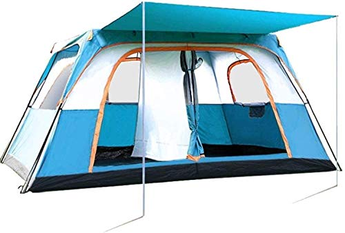 LAZ Tent for Camping Tent Outdoor Camping Thickened Two Rooms One Hall Villa 5~8 People Exposed Anti-Storm Rain Double Cold Travel Suit