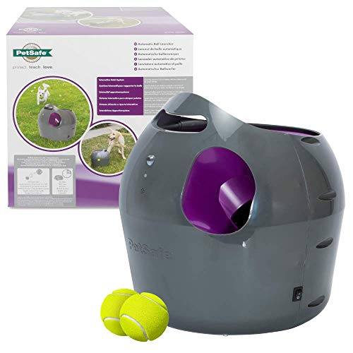 PetSafe Automatic Ball Launcher Dog Toy, Interactive Tennis Ball Throwing Machine for Dogs, Water...