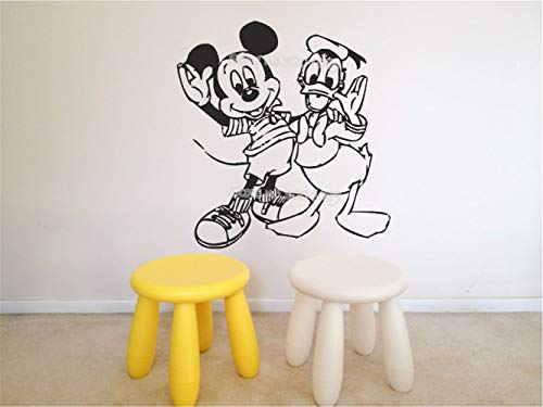 Mickey Mouse Muursticker Cartoon Mickey Mouse Donald Duck muursticker vinyl kinderkamer decor sticker kinderen kinderkamer slaapkamer
