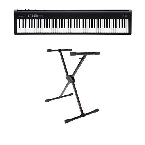 Roland Roland FP-30 - Pianoforte digitale (nero) – con Roland KS-10X supporto per tastiera regolabile a X