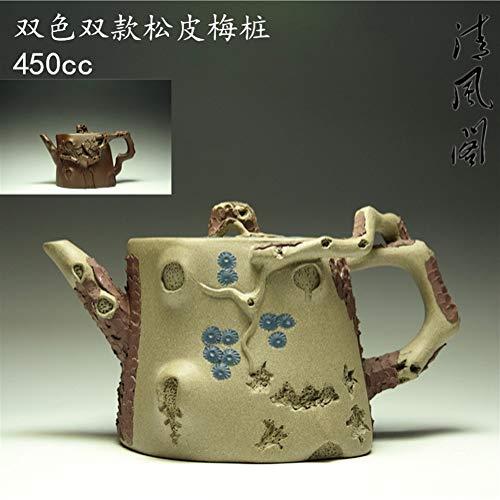 HePing Wu Qingfeng GE/Venta de los Modelos de Dos Colores 450cc / Mineral auténtico Hecho a Mano Pila Tetera Canción Pimei (Color : Purple mud)