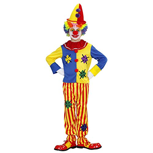 Widmann 76517 - Kinderkostüm Clown, Oberteil und Hose, Harlekin, Mottoparty, Fasching, Karneval
