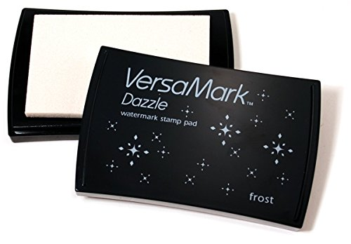 Tsukineko VersaMark Wasserzeichen Stempelkissen, Frost, Synthetic Material, durchsichtig, 9.9 x 6.6 x 1.8 cm
