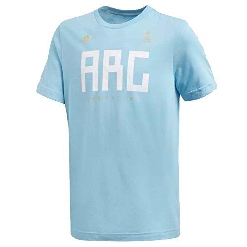 adidas Camiseta de fútbol Argentina para niños - S1854YGFXFB03, playera Argentina, L, Transparente Azul