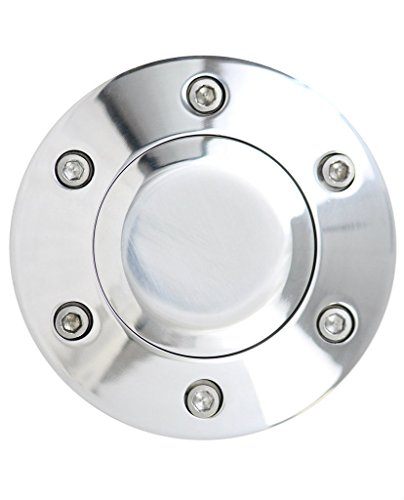 Polished 6-Hole Universal Fit Aluminum Horn Button for Aftermarket Steering Wheels