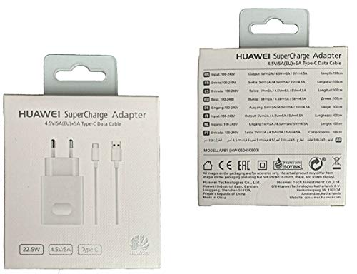 Netzteil Ladekabel Ladegerät Huawei Original Supercharge Type-C P20 Pro, Mate 10 Pro, Mate 20 Pro, 5A 5V Fast Charge Charger Schnellladekabel AP81 Blister Verpackung offizielle - 3