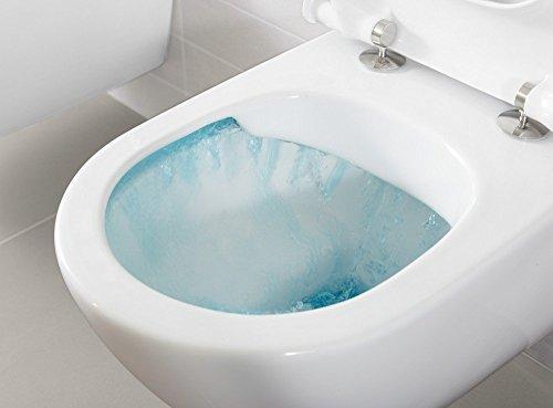 Villeroy & Boch Wand-WC O.Novo mit Sitz, Directflush und ohne Spülrand, 1 Stück, 5660HR01 - 3