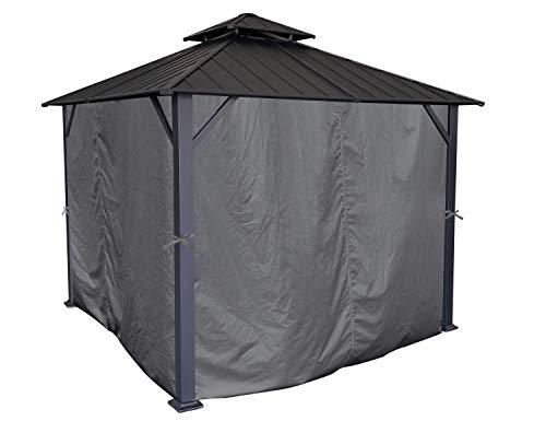 APEX GARDEN Universal Privacy Curtain Set for 10' x 12' Gazebo (Grey)