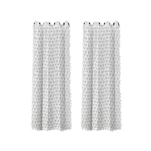 GARNECK Cortinas de Encaje de Gasa Cortinas Transparentes Blancas Cortinas de Tul Cortinas Florales Pantalla de Ventana para Cocina Sala de Estar Dormitorio