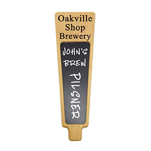 Custom Personalized Beer Tap Handle Cherry wood with Chalkboard dry-erase Engraved with your Personalized text. Great for Tap room, Brewery Gift Home Kegerator