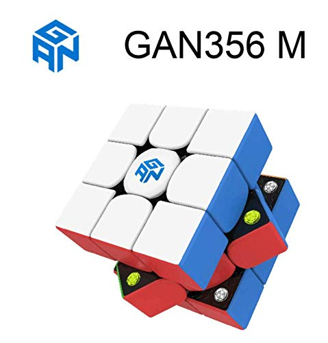 FunnyGoo Ganspuzzle GAN356XS GAN356 X S Powerful GMS v2 GES Pro Dual Elasticity System 3x3 GAN 356 X S 356 XS Magic Puzzle Cube Speed Cube One Cube Bag and one Stand Black