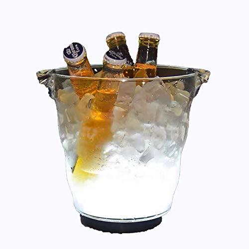 YYCHJU Cerveza Refrigerada Cubitera para Hielo 5L Gran Cubo de Hielo LED Cubo de Hielo plástico Colorido Cubo de Hielo de Vino, gradiente Cubo de Hielo plástico Luminoso, para Party/Home/Bar/KTV Club