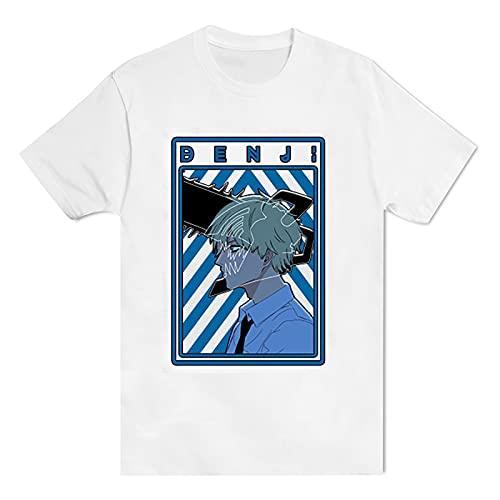 Camiseta de Manga Corta con Estampado de Personajes de Anime Peripheral Chainsaw Man, Camiseta de Manga Corta para Hombres y Mujeres