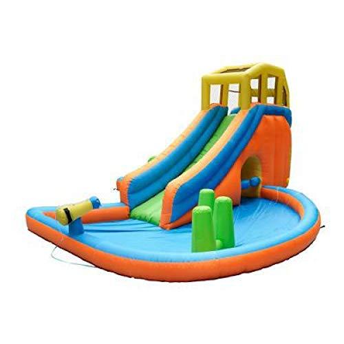 WANGZI Tobogán acuático inflable para niños, seguro y fácil de limpiar en gran tobogán acuático, piscina, parque inflable para el jardín al aire libre