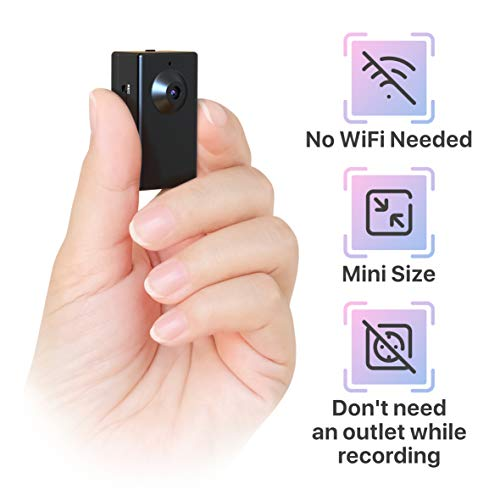 Spy Camera Without WiFi – Body Hidden Camera - Mini Spy Camera Motion Activated - Secret Nanny Cam Recorder with HD Video – Portable Stealth Spying Recording Cameras for Home Security Easy to Use