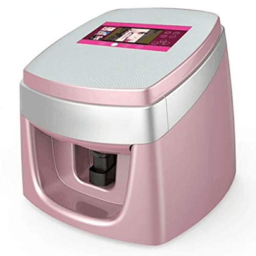 Fully Automatic Intelligent Digital Nail Printer, 3D Nail Painting Machine, Can Be Connected By Mobile Phone, DIY Image,Pink