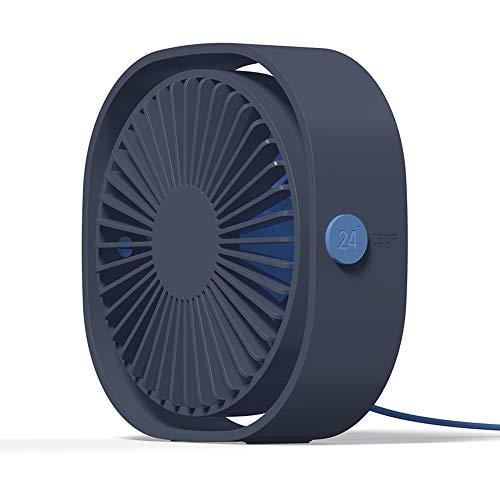 Simpeak Ventilador USB Mini, Mini Ventilador USB de Cuello Portátil para Oficina/Hogar/Viajar/Acampar - Azul