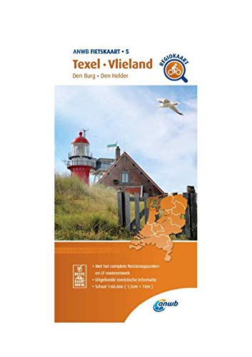 Fietskaart Texel, Vlieland 1:66.666: Den Burg, Den Helder