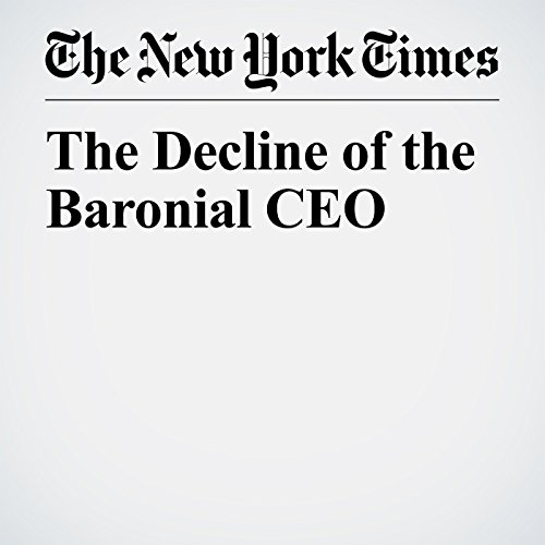 The Decline of the Baronial CEO copertina
