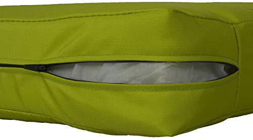 Beo Beo LKP 80x80PY203 Loungekissen Sofakissen Palettenkissen mit Reissverschluss und wasserabweisendem Stoff, hellgrün, 80 x 80 cm
