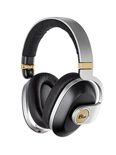 Blue Satellite Premium Wireless Noise-Cancelling Headphones with Audiophile Amp (Black), (7105)