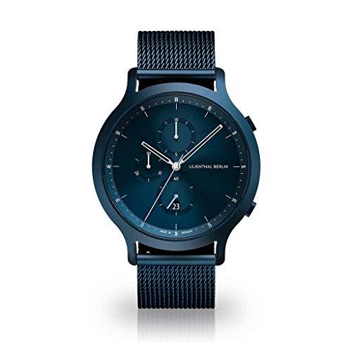 Lilienthal Berlin Chronograph Blue Mesh