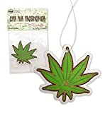 Pot Leaf Novelty Air Freshener for Car - Musk Scented - Automotive Accessory Happy Leaf Ornament (Pack of 4)