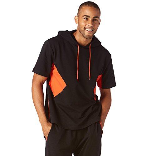 Zumba Fitness Hombre Dance it out Sudadera con Capucha Hombres Tops, Todo el año, Hombre, Color Bold Black, tamaño Large