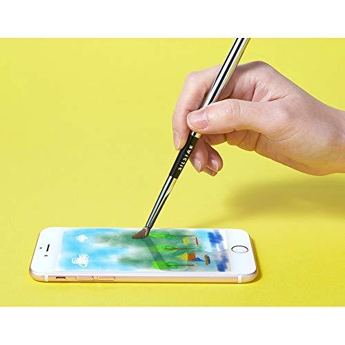 Pincel digital artístico para tableta con pantalla táctil, lápiz capacitivo con cepillo sintético, para smartphones y tabletas