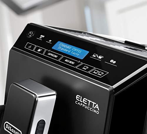 De'Longhi Eletta, Fully Automatic Bean to Cup Coffee Machine, Cappuccino and Espresso Maker, ECAM 44.660.B, Black
