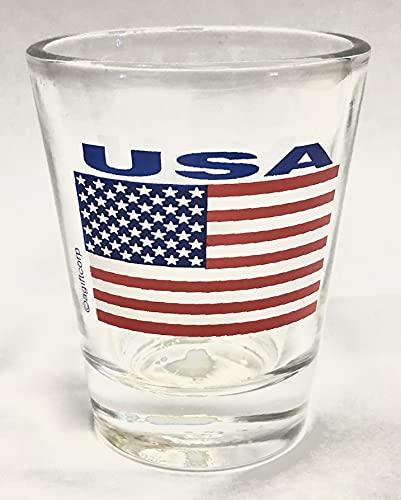 USA Flag Shot Glass