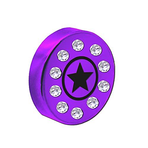 tumundo Aimants Magnétique Adhésif Motif Star Strass Glitter Coloré Acier Frigo Ecole Bureau Tableau Noir Rond Petit, pièces:5 pièces - Pourpre