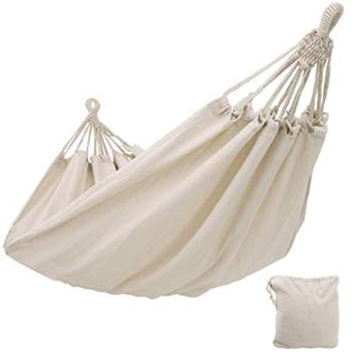 EATAN Doble hamaca al aire libre Rollover Prevención Camping lona colgante cama columpio para patio viajes senderismo 200x150 cm hamaca silla con soporte