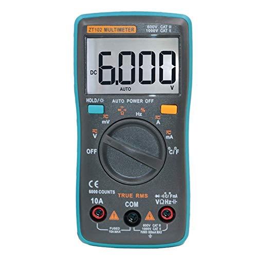 WY-YAN ZT102 portátiles RMS multímetro digital portátil con la temperatura del condensador Preciso