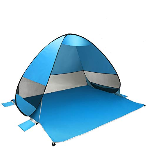 Coolty Pop Up Tienda de Campaña para la Playa Portátil Refugio Carpa Anti-UV 50+para Parque Acampar Al Aire Libre Vacaciones en la Playa (2-3 Personas)