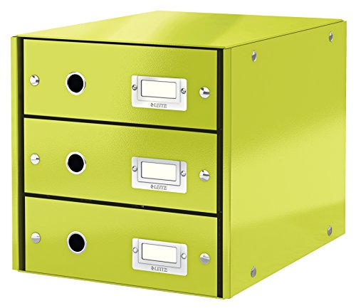 Leitz, Schubladenbox, Grün, 3 Schubladen, A4, Click & Store, 60480064