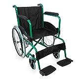 Mobiclinic, Faltrollstuhl, Alcazaba, Europäische Marke, orthopädisch, Rollstuhl für Ältere und behinderte Menschen, selbstfahren, ergonomischer Sitz und Rückenlehne, Grün, Sitzbreite 46 cm -