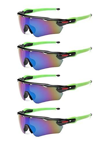 Jitejoe - Gafas de sol polarizadas para hombre y mujer, ideales para conducir, pesca, ciclismo y correr, 4 unidades