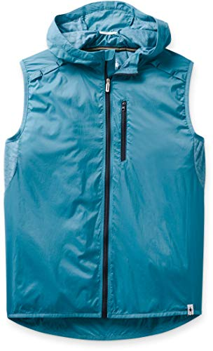 Smartwool Women's Sport Ultra Light Vest Regular Fit Nylon Light Ocean Abyss, Extra Small