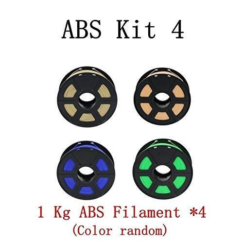 HUANRUOBAIHUO 3D imprimante ABS Filament Kit 1.75mm Plastique 1 kg Caoutchouc Solide Consommables d'impression 3D Couleur Matériel en Option Fournitures d'imprimante (Color : ABS Kit4)